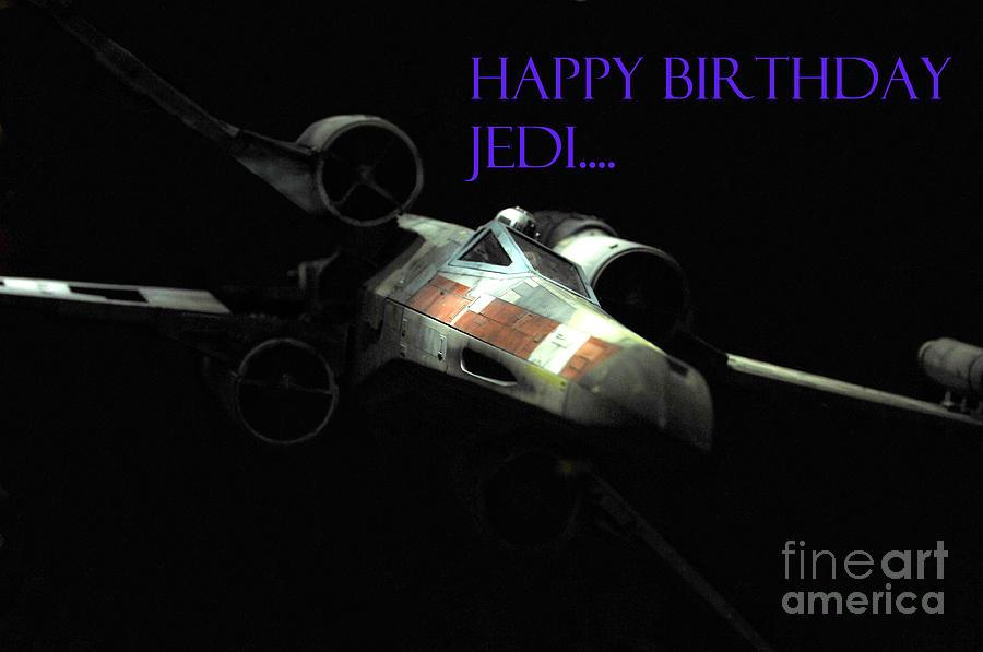 Star Wars Photograph - Jedi Birthday Card by Micah May
