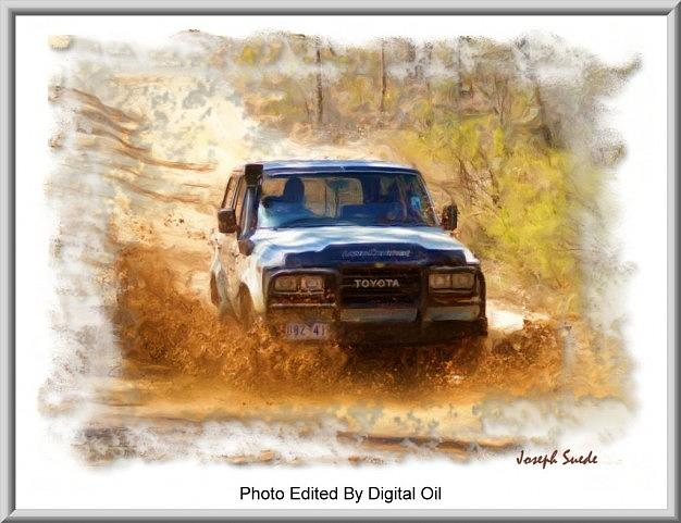 Jeep In The Mud Edited Photograph by Digital Oil