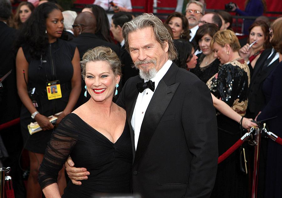 Jeff Bridges con hermoso, Esposa Susan Geston