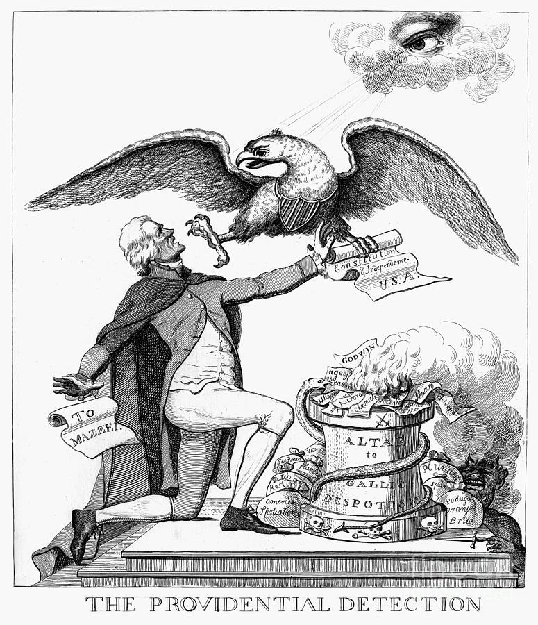 1800 Photograph - Jefferson: Cartoon, 1800 by Granger