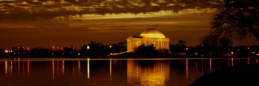America  - Jefferson Memorial - Panoramic by David Hahn