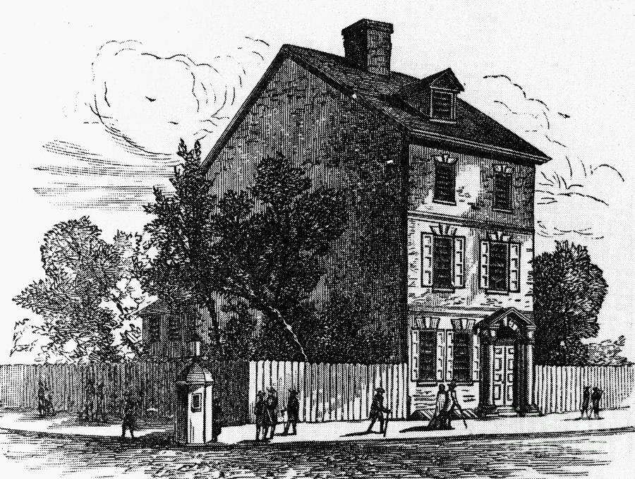 1776 Photograph - Jeffersons House, 1776 by Granger