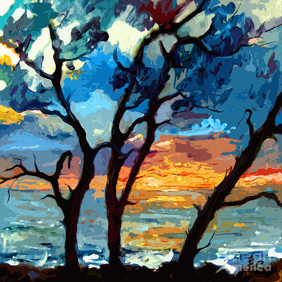 Sunrise Painting - Jekyll Island Sunrise Painting by Ginette Callaway
