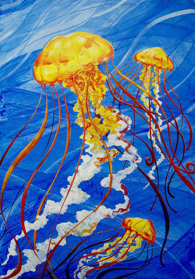 Jellyfish painting by john gibbs for Jelly fish painting
