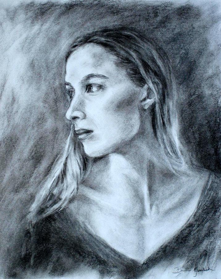 Women Drawings Drawing - Jennifer by Bonnie Goedecke