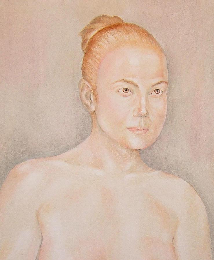 Woman Painting - Jennifer Lopez by Nasko Dimov