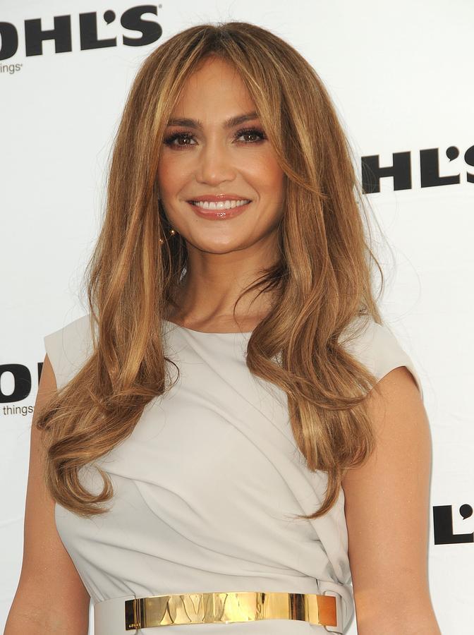 Jennifer Lopez Photograph - Jennifer Lopez Wearing A Gucci Dress by Everett