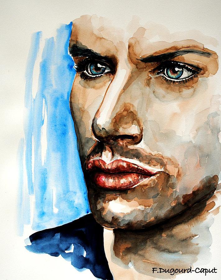 Portrait Painting - Jensen Ackles by Francoise Dugourd-Caput