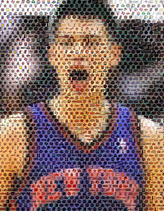 New York Digital Art - Jeremy Lin Mosaic by Paul Van Scott