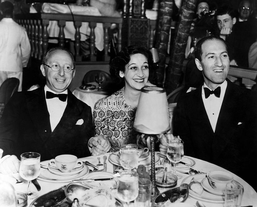 1930s Photograph - Jerome Kern, Dorothy Fields, George by Everett