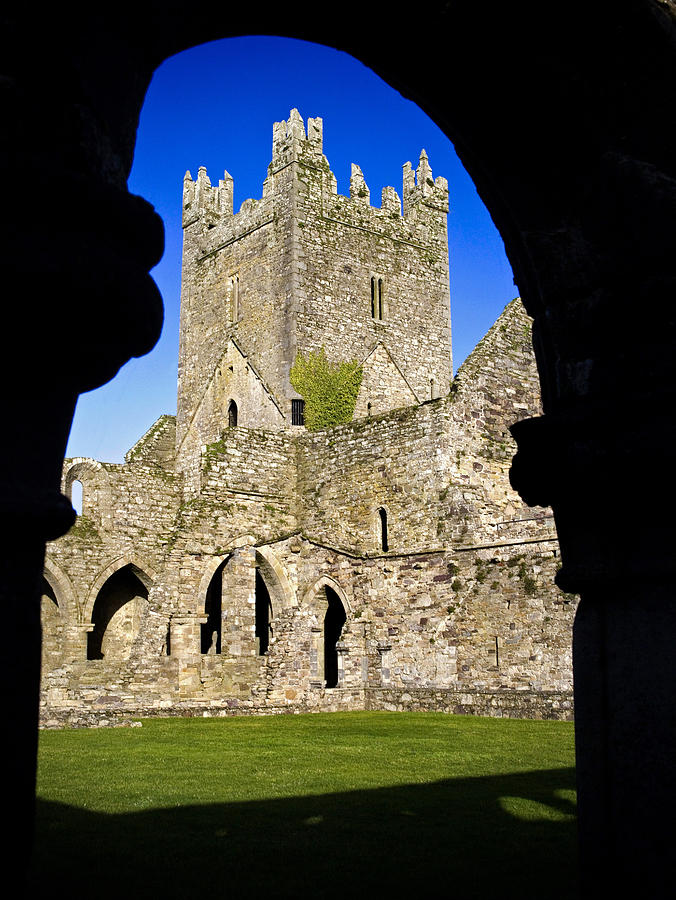 Color Image Photograph - Jerpoint Abbey In Kilkenny by Chris Hill