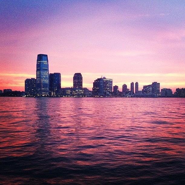 Jersey Sunset Photograph by Randy Lemoine