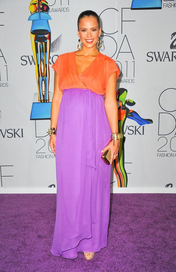 Jessica Alba Photograph - Jessica Alba Wearing A Custom Diane Von by Everett