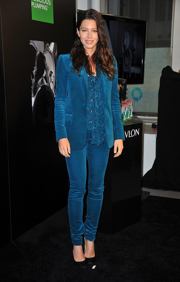 Jessica Biel Photograph - Jessica Biel Wearing A Gucci Suit by Everett