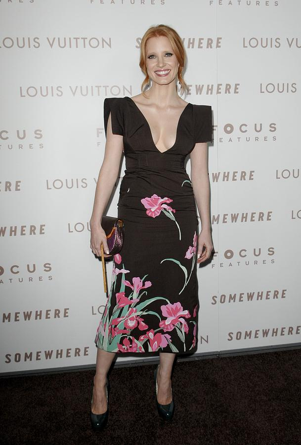 Jessica Chastain Photograph - Jessica Chastain Wearing A Louis by Everett