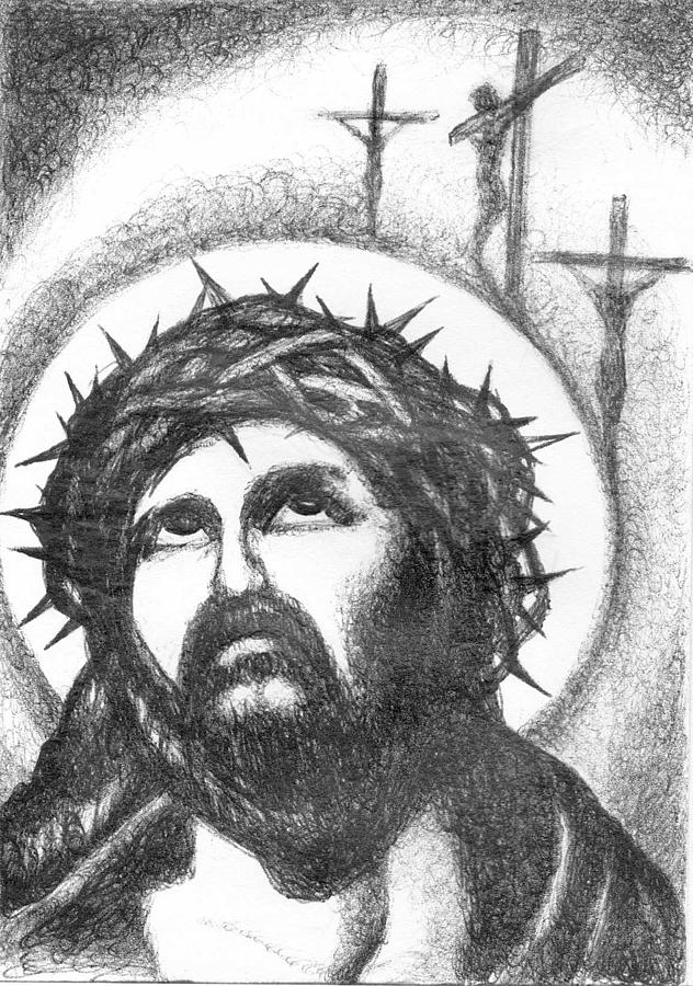 Jesus Christ Drawing by Mike Distel