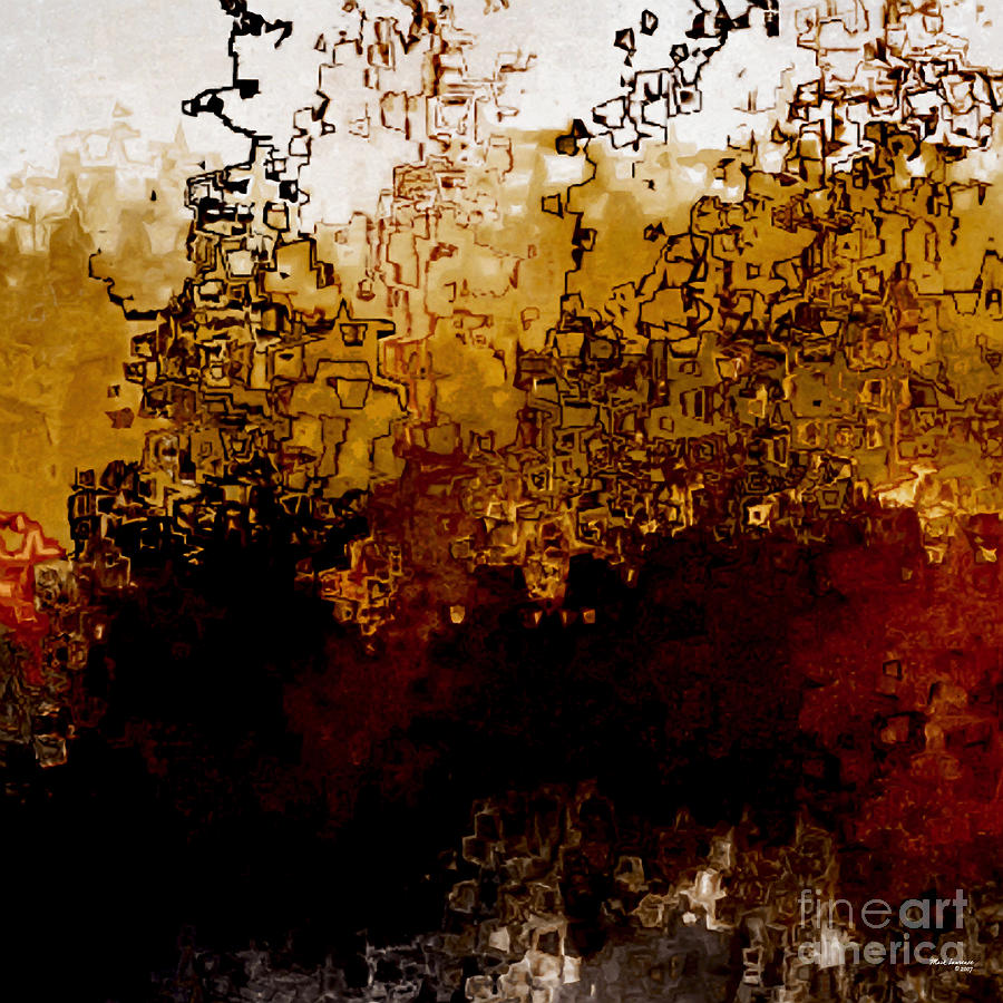 Abstract Painting - Jesus Christ The Amen by Mark Lawrence