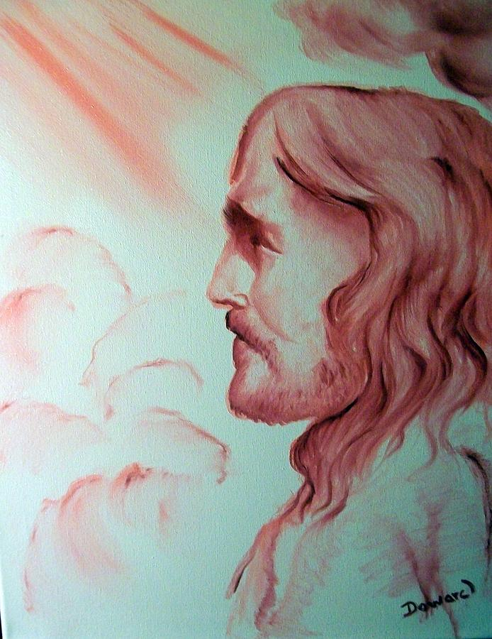Oil Painting Painting - Jesus In His Glory by Raymond Doward
