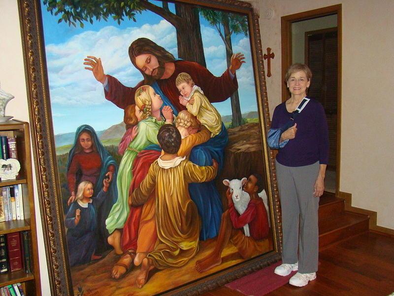 Jesus Loves The Children Painting by Bobi Glenn