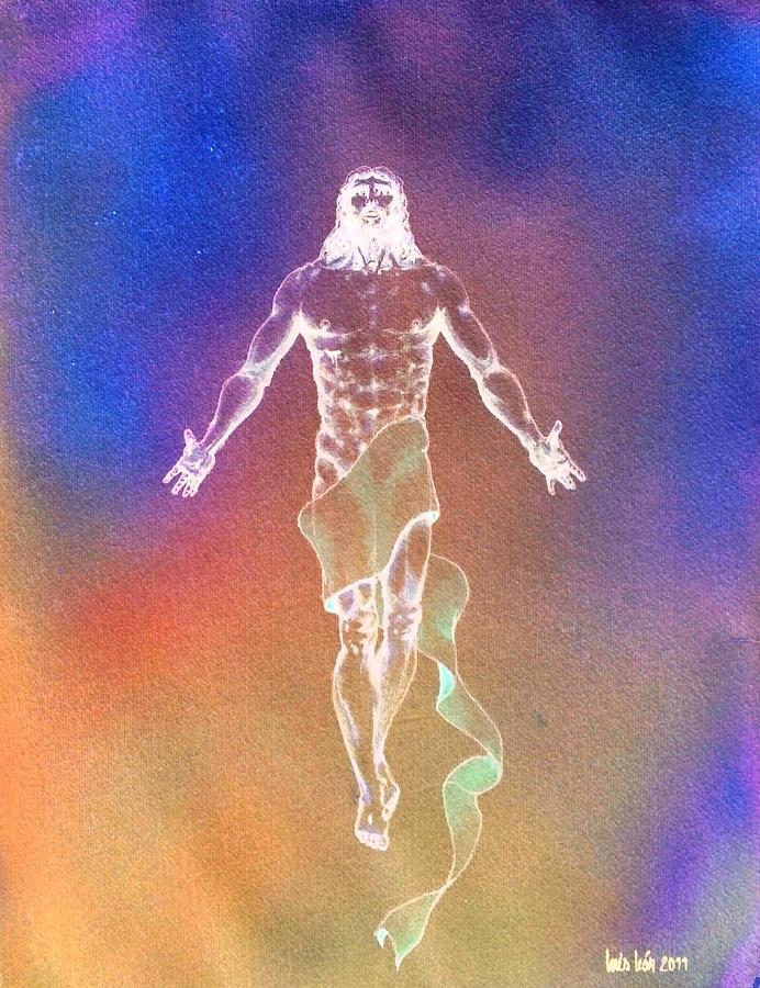 Jesus Risen II Painting by Luis Leon