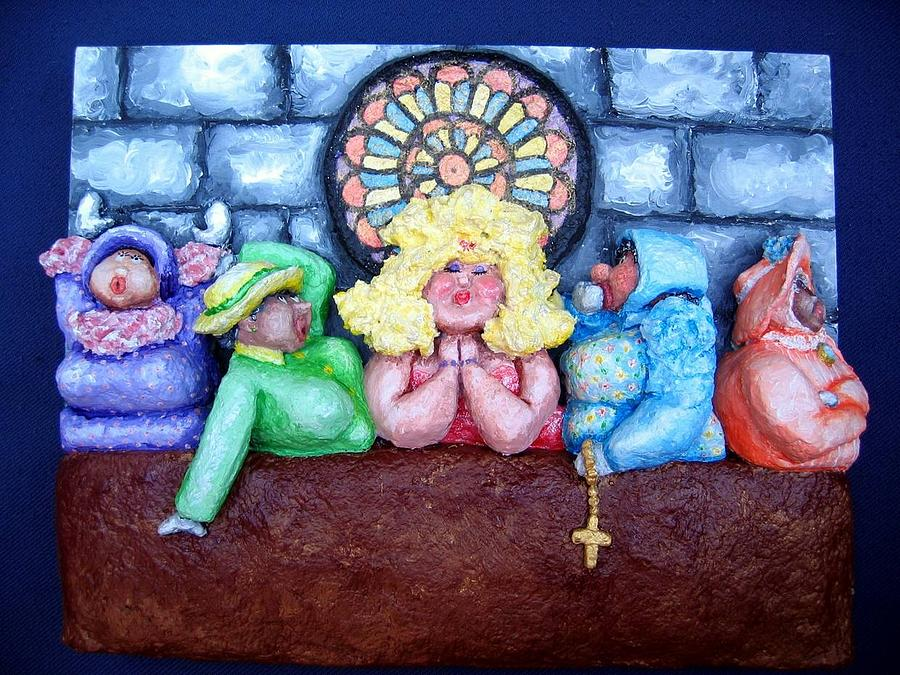Church Relief - Jesus Save Us. The Devil Has Come To Church by Alison  Galvan