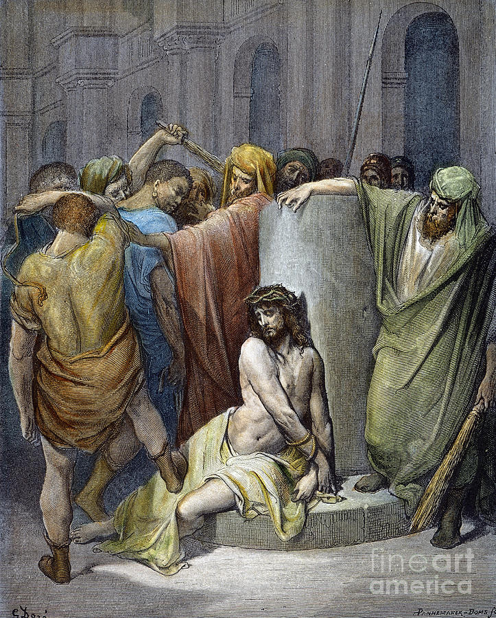 Beating Photograph - Jesus: Scourging by Granger