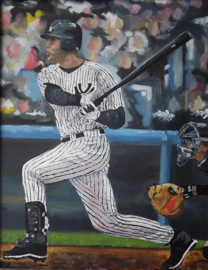 Yankees Painting - Jeter by Al Fonollosa