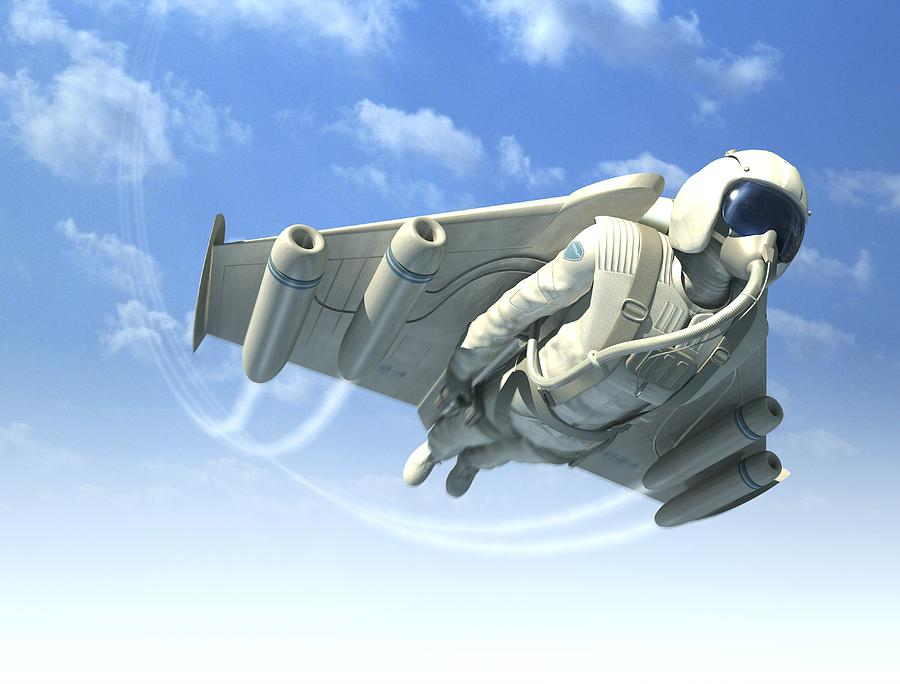 Adult Photograph - Jetman, Artwork by Henning Dalhoff
