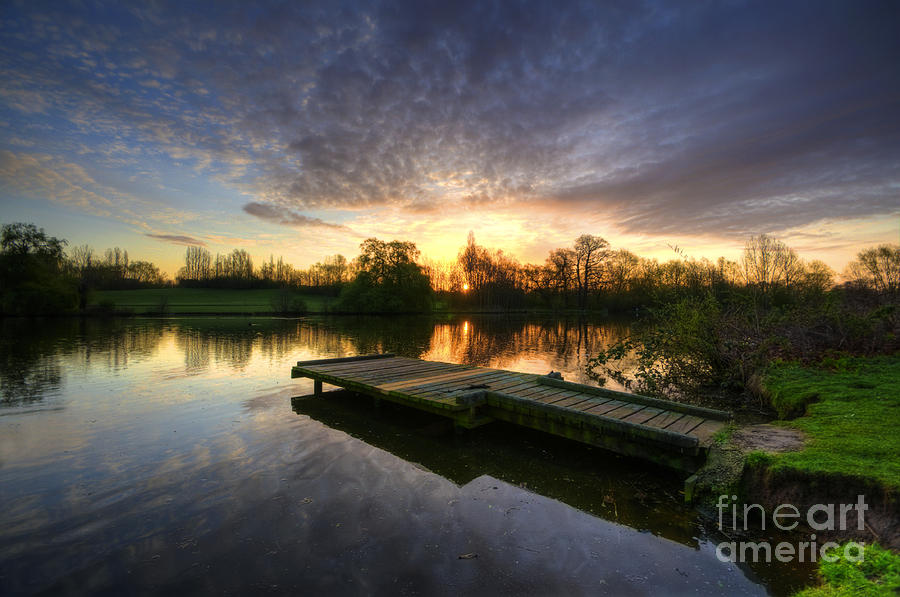 Hdr Photograph - Jetty Sunrise 2.0 by Yhun Suarez