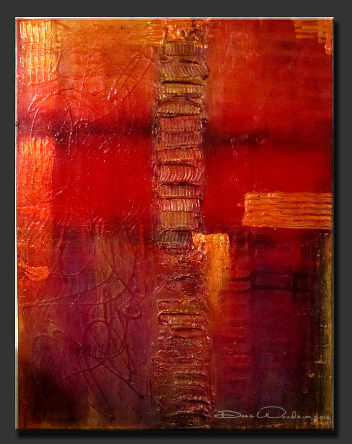 Abstract Painting Painting - Jeweled 2 by Dora Woodrum