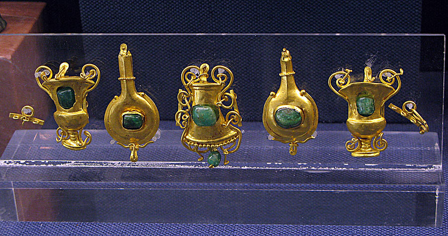 Hellenistic Jewelry Photograph - Jewellery With Gems by Andonis Katanos