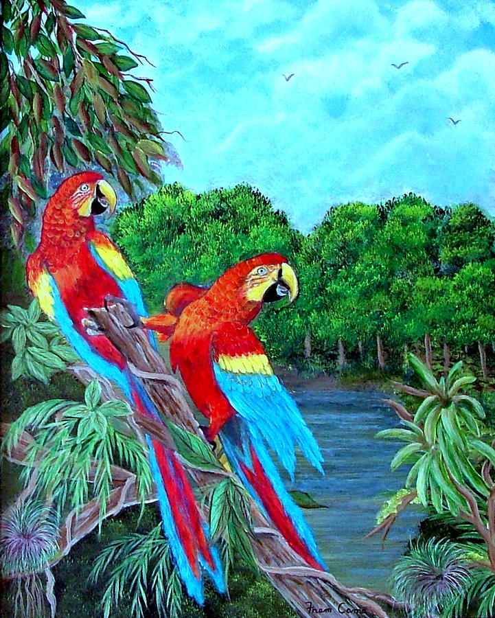Jewels Of The Amazon Painting by Fram Cama