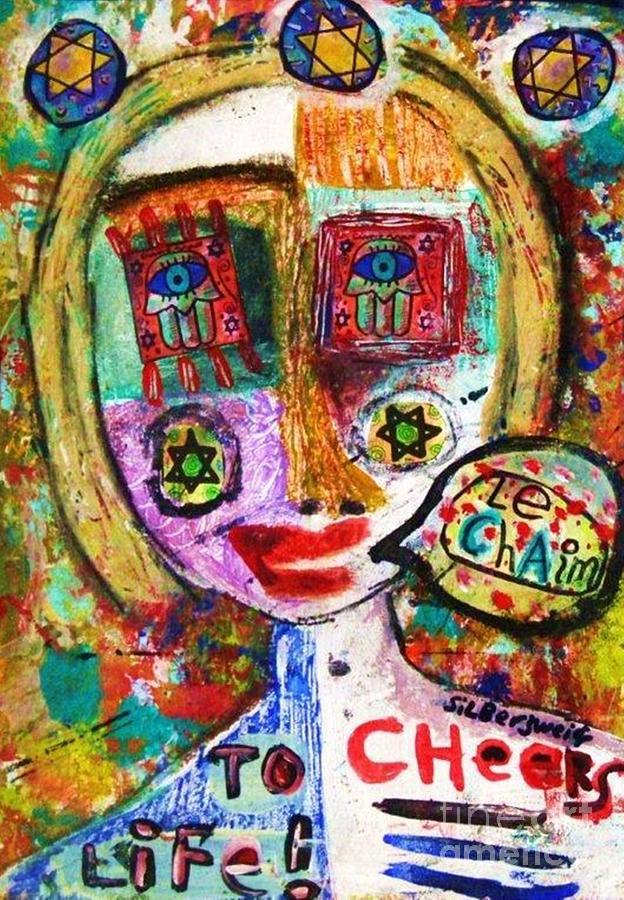 Jewish Painting - Jewish Angel by Sandra Silberzweig