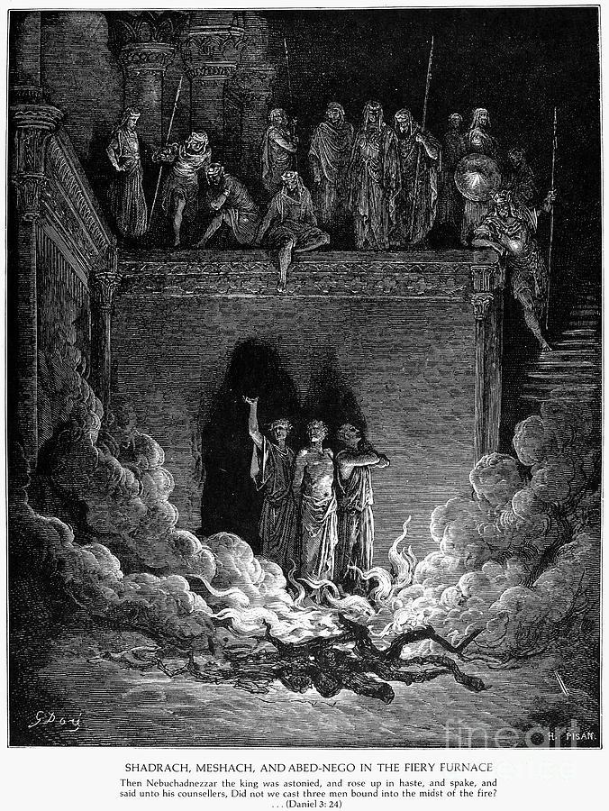 Babylon Photograph - Jews In Fiery Furnace by Granger