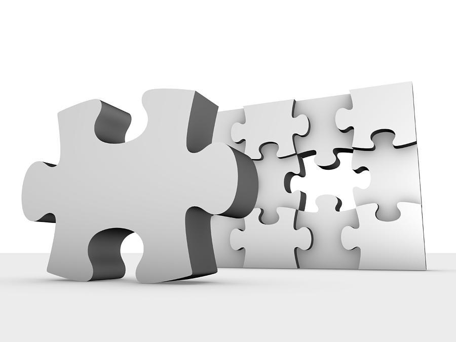 Jigsaw Puzzle Photograph - Jigsaw Puzzle, Artwork by Pasieka