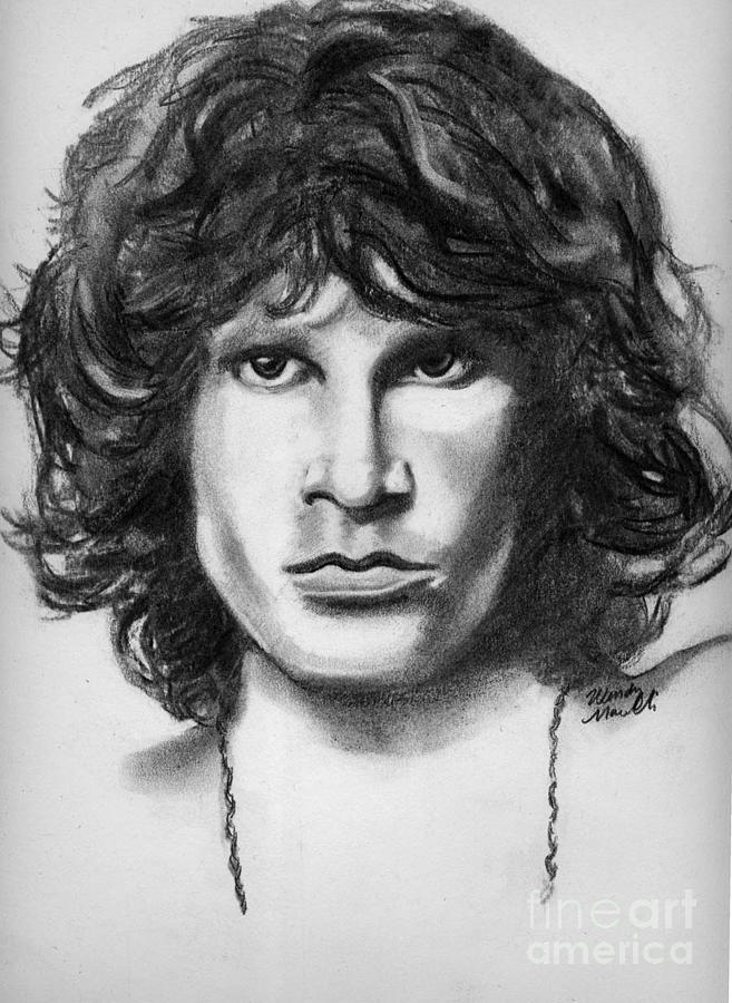 Jim Morrison Drawing By Wendy Marelli