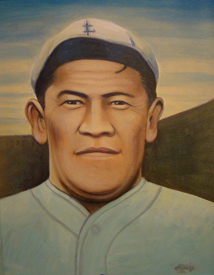 Giants Painting - Jim Thorpe by Mark Haley
