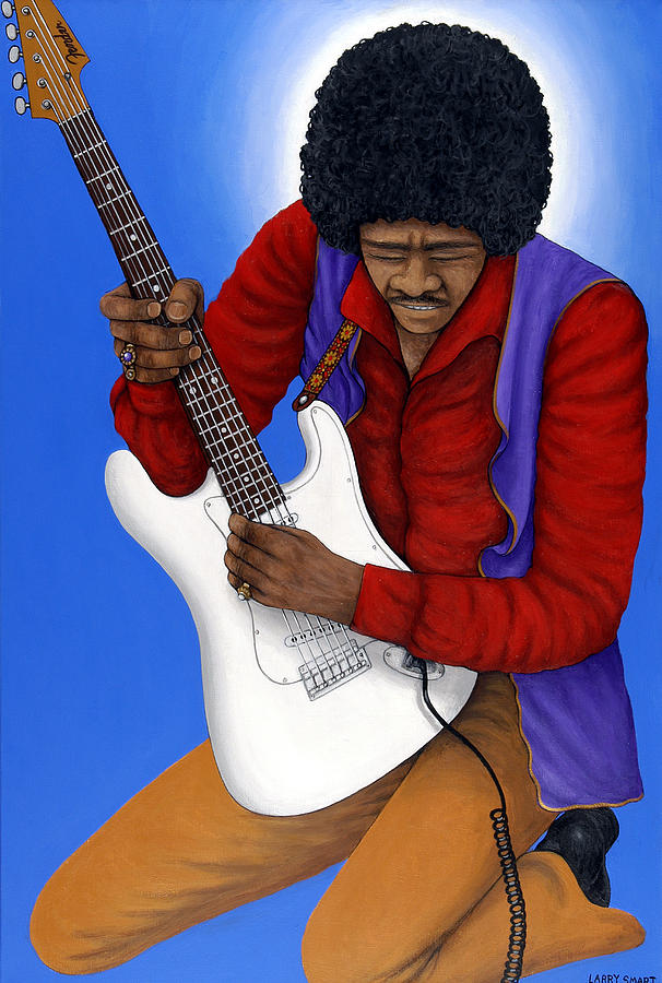 Rock And Roll Painting - Jimi Hendrix  by Larry Smart
