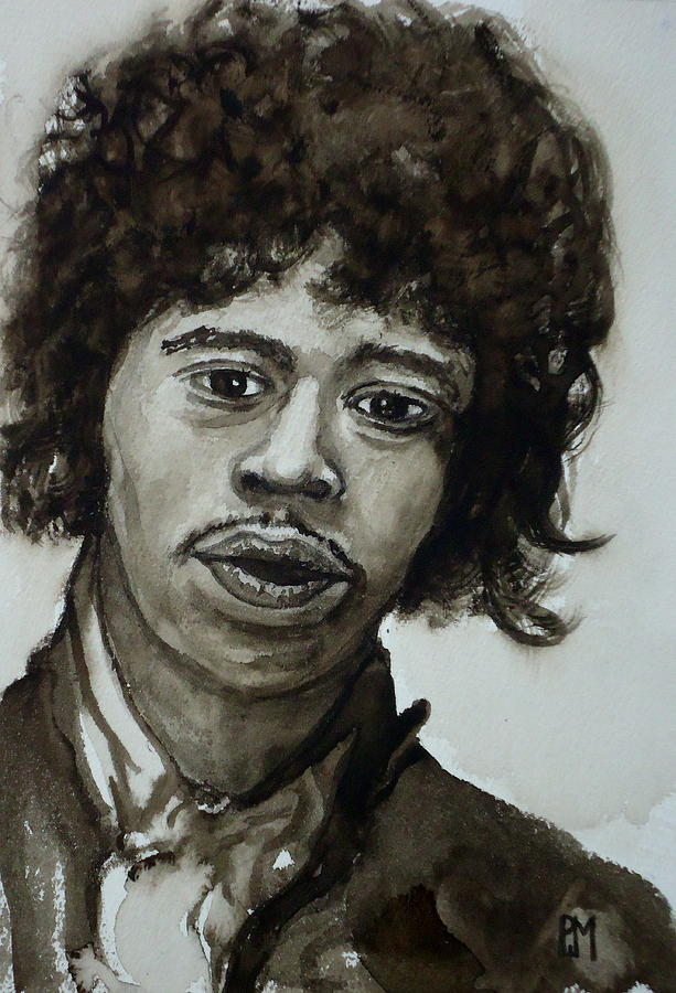 Jimi Hendrix Painting - Jimi by Pete Maier