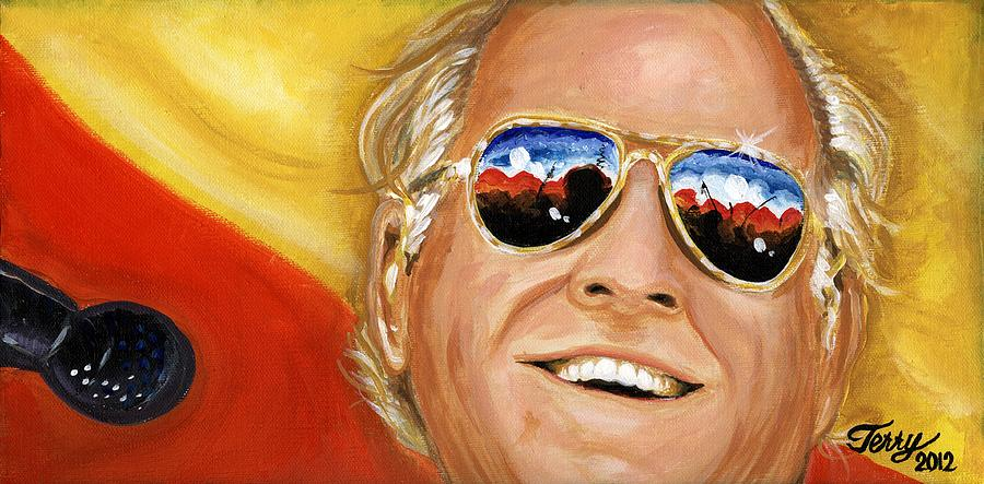 New Orlean Musicians Painting - Jimmy Buffet At The Jazz Fest by Terry J Marks Sr