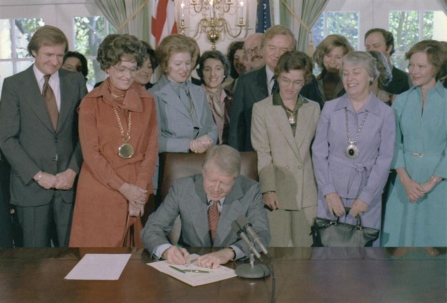 History Photograph - Jimmy Carter Signs A House by Everett