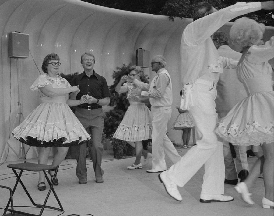 History Photograph - Jimmy Carter Square Dances by Everett