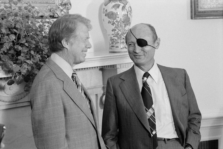 History Photograph - Jimmy Carter With Israeli Foreign by Everett