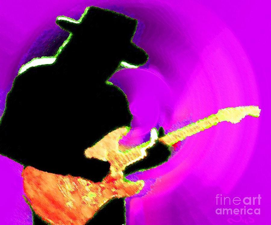 Music Painting - Jimmy Page Nixo by Nicholas Nixo