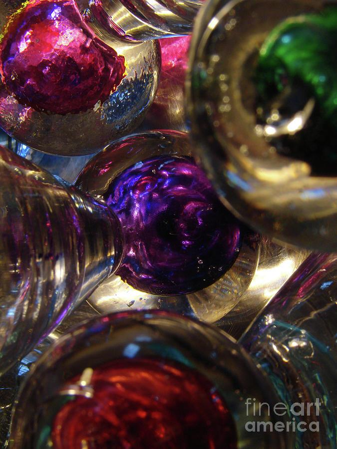 Glass Photograph - Jingle Balls by Mark Holbrook