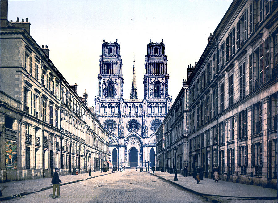 joan of arc street orleans france photograph by everett. Black Bedroom Furniture Sets. Home Design Ideas