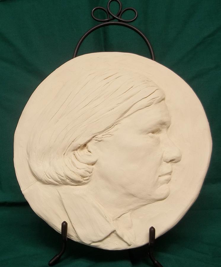 Woman's Face Sculpture - Joan by Sharon Weaver