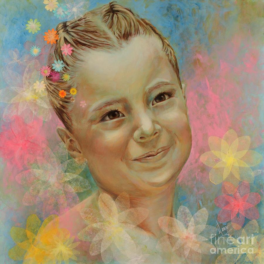 Portrait Painting - Joanas Portrait by Karina Llergo