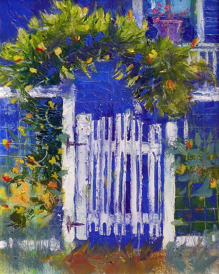 Habersham Painting - Joans Gate by Gertrude Palmer
