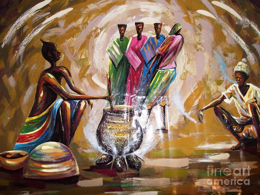 Jobtom Painting by Dennis Spaine